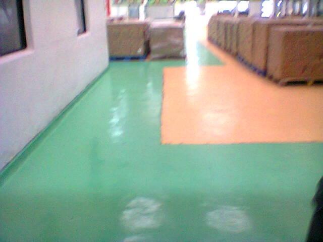 Epoxy colored floor
