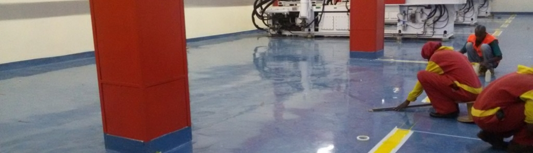 Epoxy floors for industrial, commercial an domestic applications